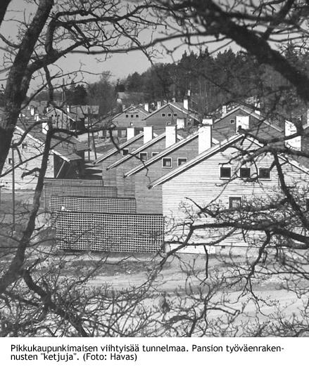 Pikkukaupunkimaisen viihtyisää tunnelmaa_Pansion työväenrakennusten ketjuja_80-275i